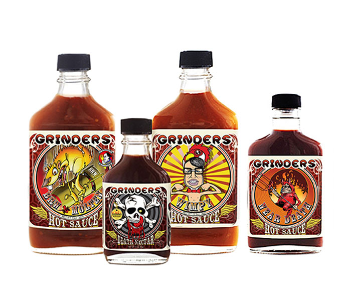Grinders Signature Hot Sauces 4-pack Gift Set